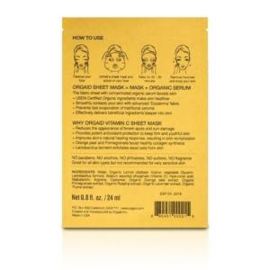 ORGAID Rewitalizująca maska w płachcie Witamina C skład