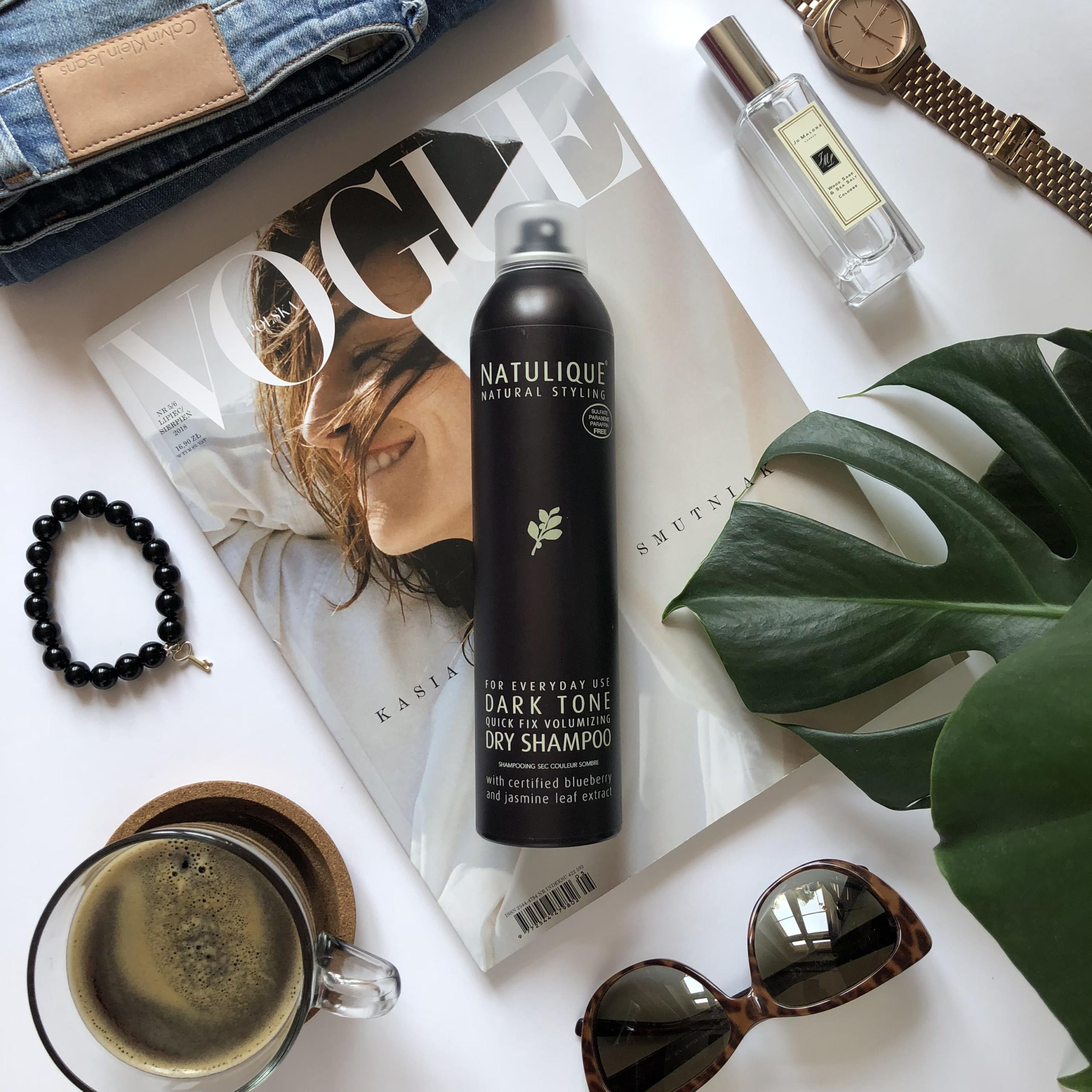 NATULIQUE Suchy szampon dla ciemnych włosów