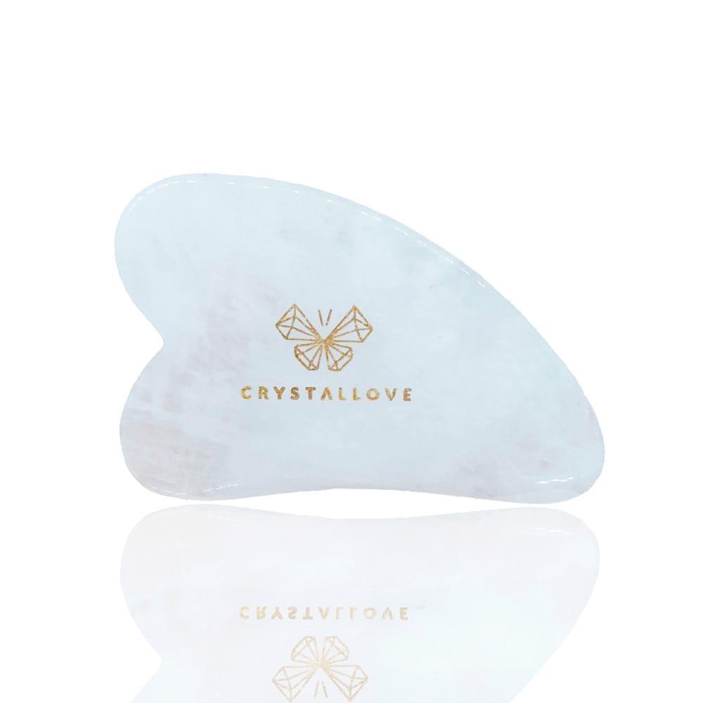 CRYSTALLOVE Guasha płytka do masażu twarzy gua sha z Kryształu Górskiego | SoBio Beauty Boutique