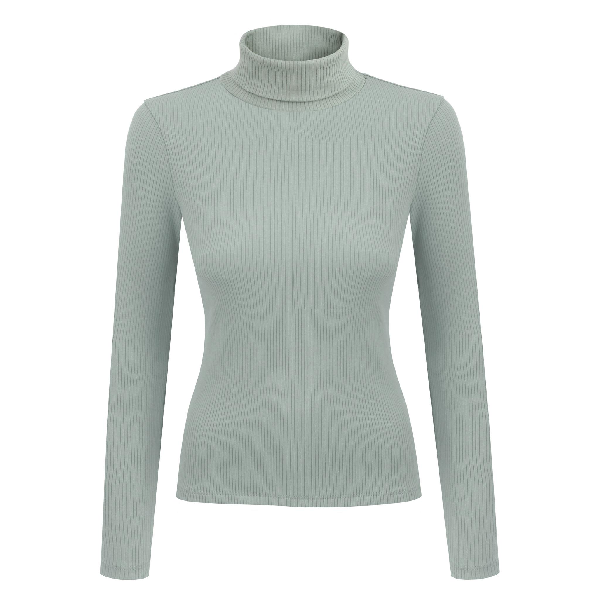 NAGO organic cotton turtleneck / mint | SoBio Beauty Boutique