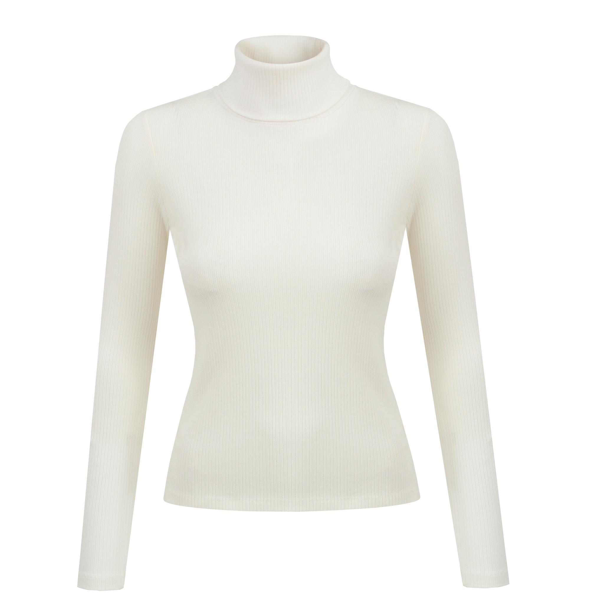 NAGO Organic cotton turtleneck / white | SoBio Beauty Boutique