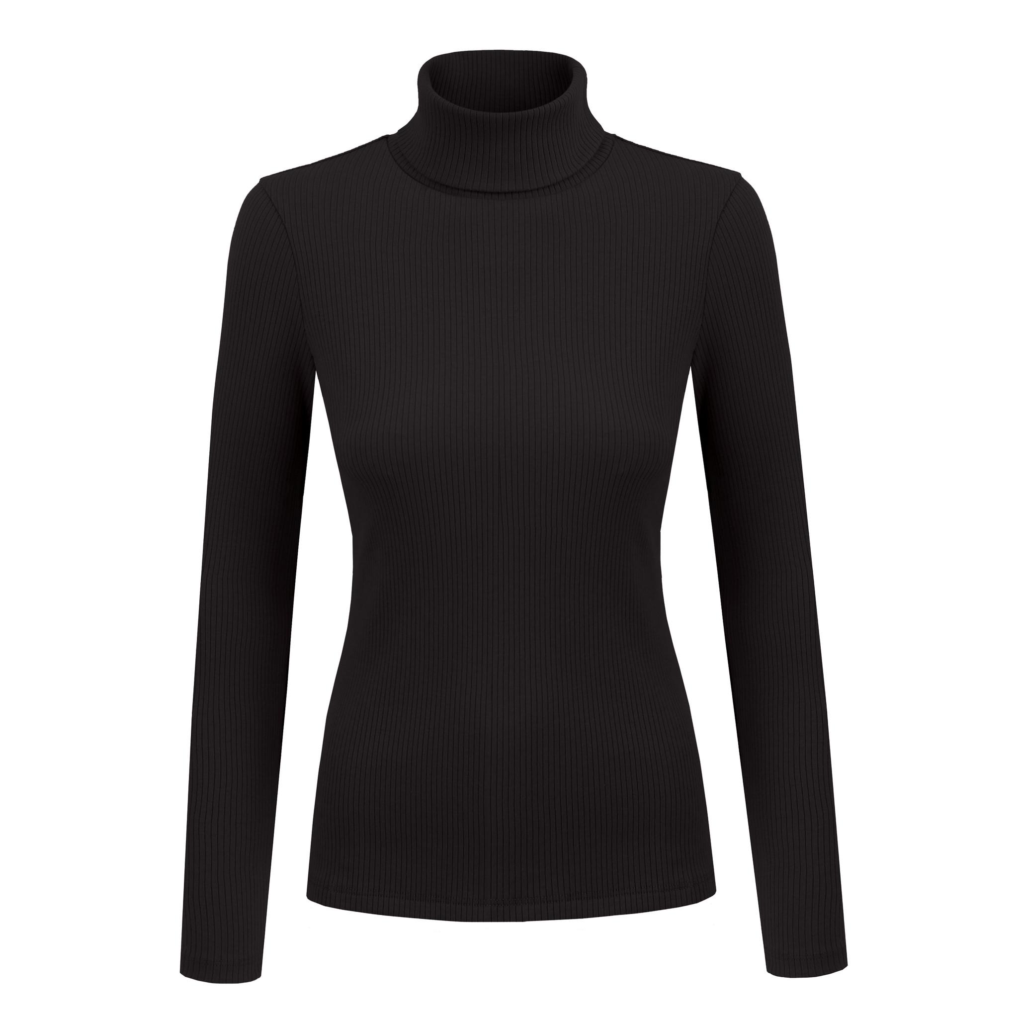 NAGO Organic cotton turtleneck : black | SoBio Beauty Boutique