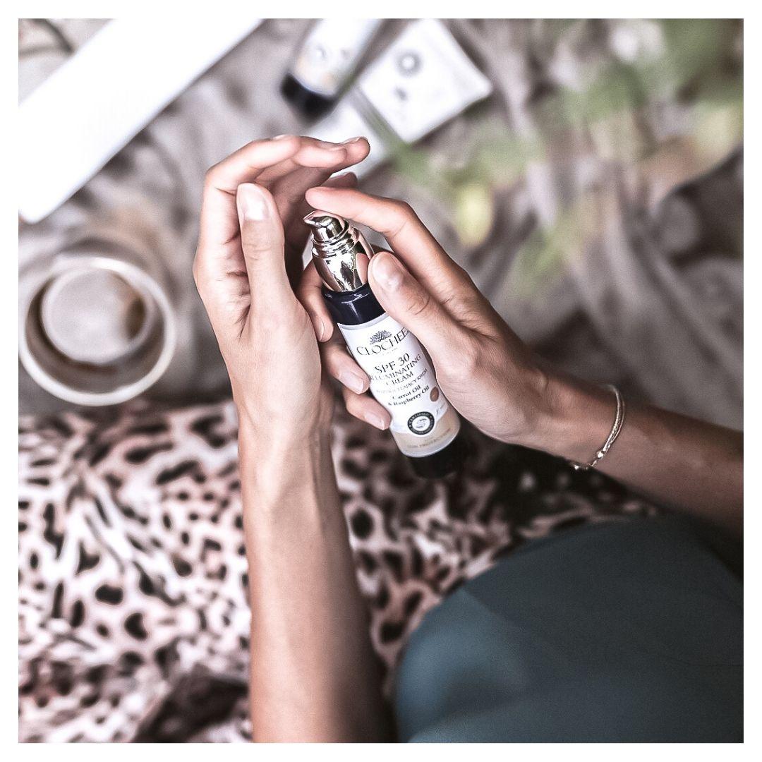 CLOCHEE Rozświetlający krem SPF 30| SoBio Beauty Boutique 2