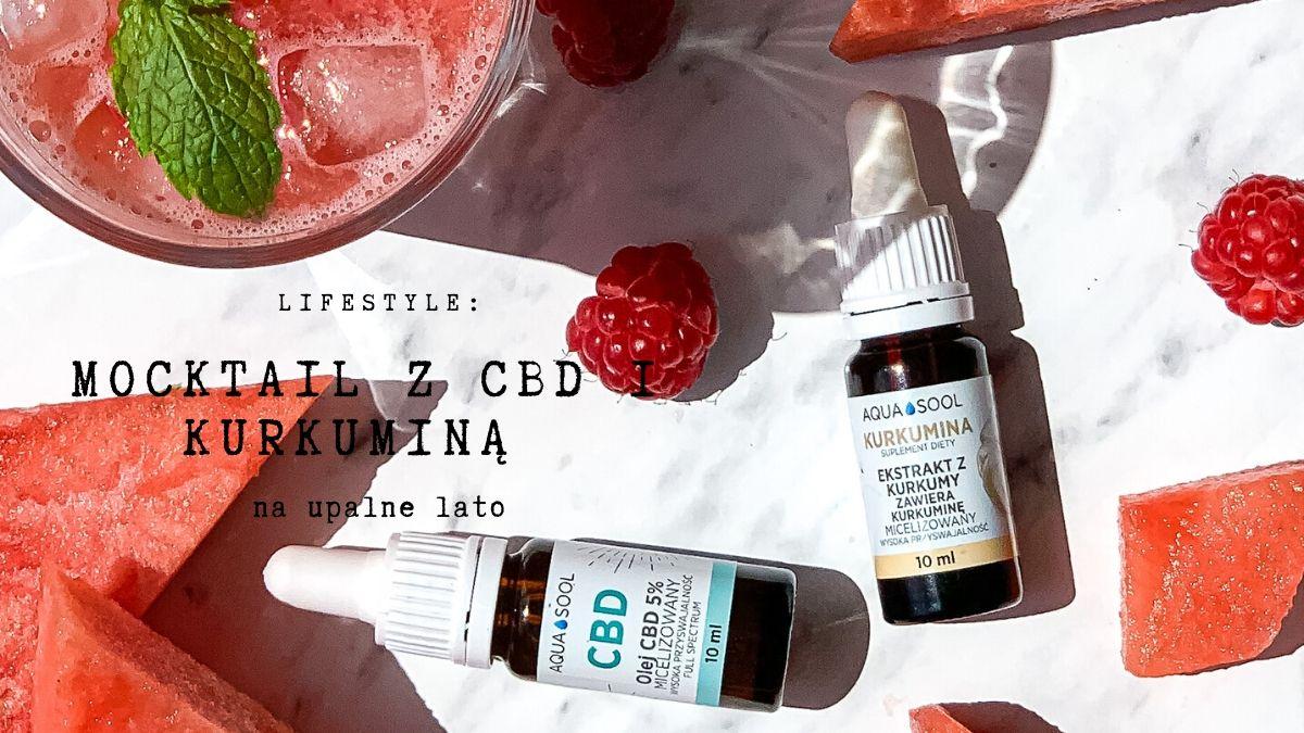 Mocktail z CBD i KURKUMINĄ na upalne lato | SoBio Beauty Boutique