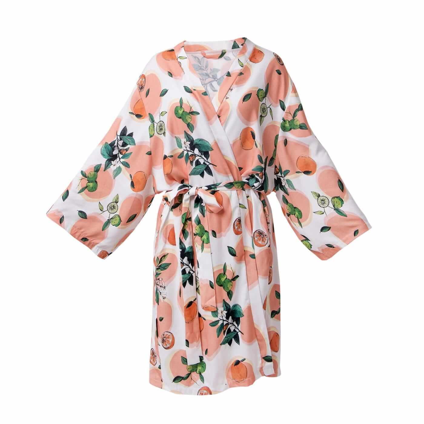 LULLALOVE Bamboo Kimono Orange Blossom | SoBio Beauty Boutique | Cruelty Free Concept Store